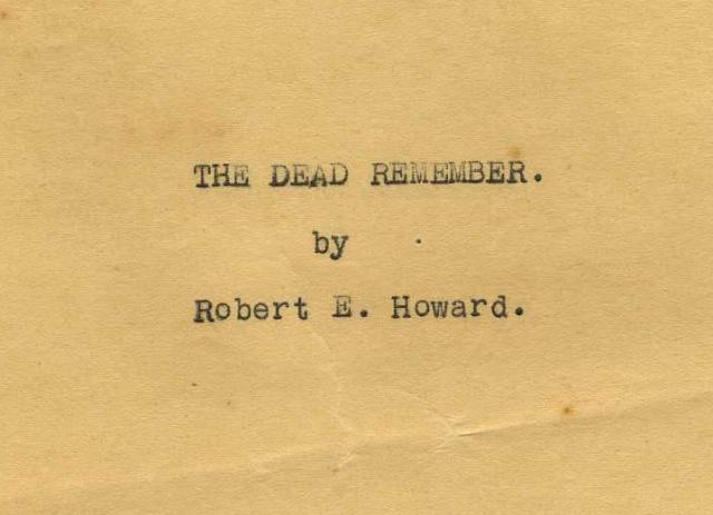 2018 09-24 Dead Remember