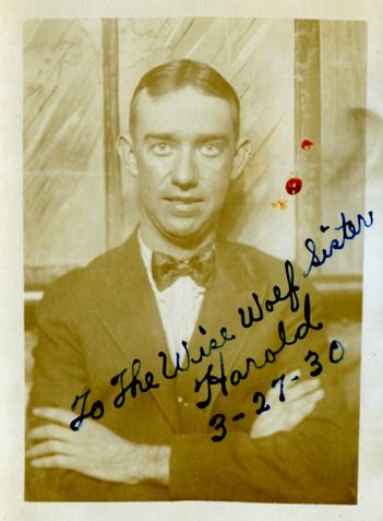 1930 03-27 HaroldPreecefrom Lenore scrapbook-crop-sm