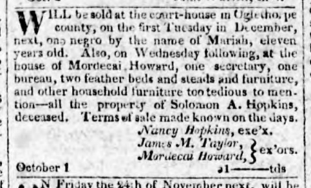 1820 11-07 The Georgia Journal (Milledgeville) p4
