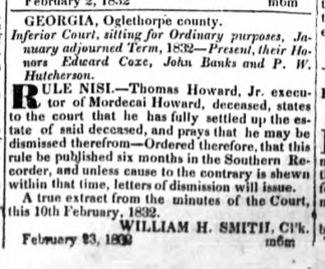 1832 05-10 Southern Recorder (Milledgeville) p4